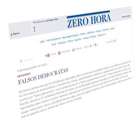 Zero Hora veste a camisa de Falsa Democrata!
