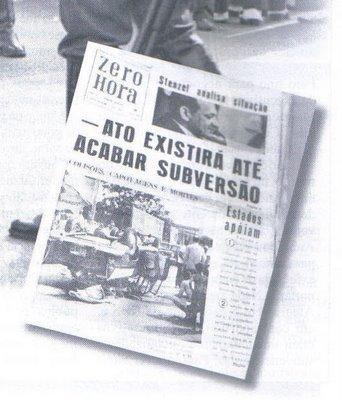 Zero Hora apoiou a Ditadura