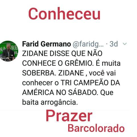 Farid Germano Biscoitos Zeze Gremio Mundial Real Madrid
