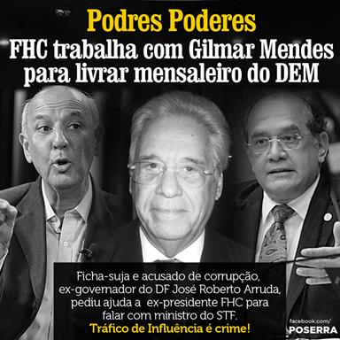 Jose Roberto Arruda, Gilmar Mendes & FHC