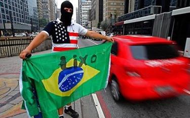 bandeira manifestante