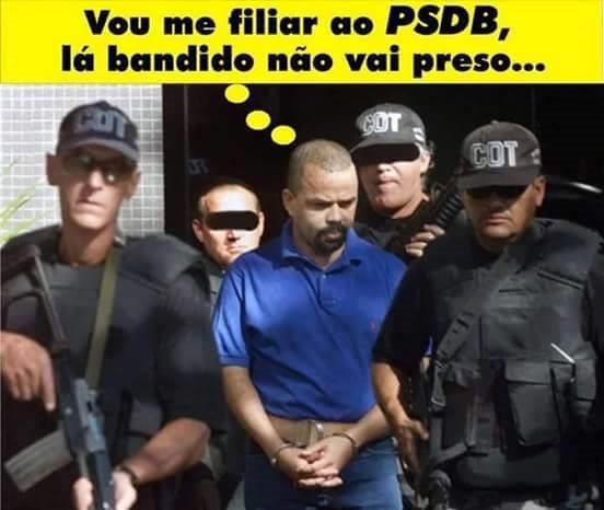 Resultado de imagem para fernandinho beira mar, vou me filiar ao PSDB?