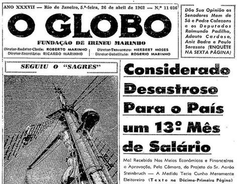 Salario Minimo Manchete O Globo