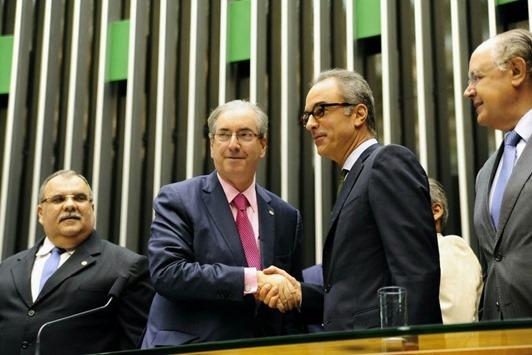 Eduardo Cunha e Joao Roberto Marinho