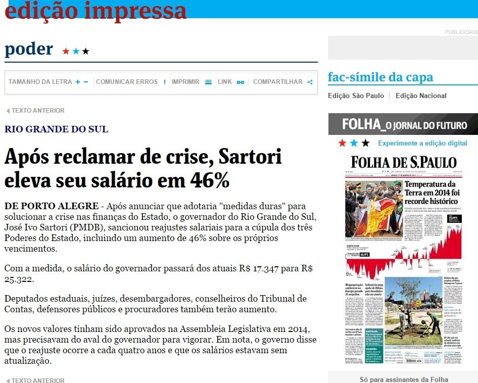 Resultado de imagem para Governo RIO GRANDE DO SUL( gaúcho) parcela salários pelo 8º mêS SALARIOSs