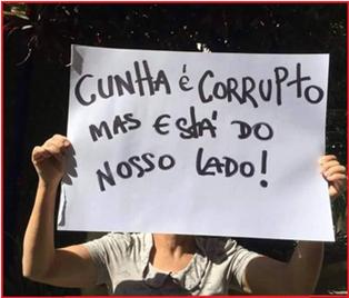 Eduardo Cunha rouba mas faz