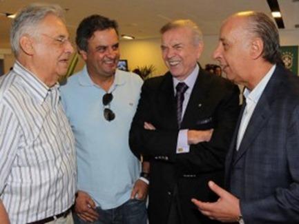 FHC, Aécio Neves, José Maria Marin & Marco Polo del Nero