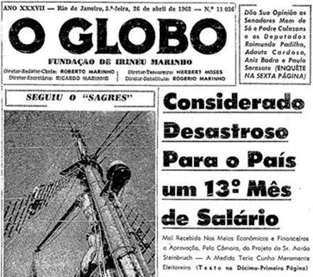 Globo x 13 salario