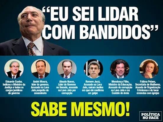 Resultado de imagem para O governo de Michel Temer é uma máfia, e o chefe o 'capo' é Eduardo Cunha