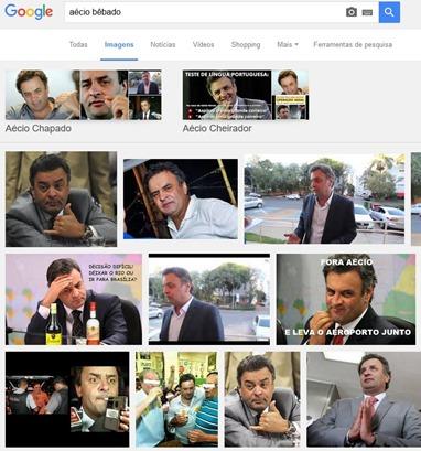 Aécio Bêbado no Google