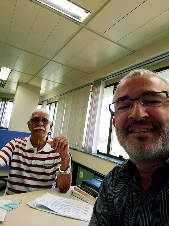 Com Laurício, em março de 2019